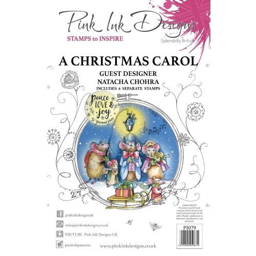 Pink Ink  A5 A Christmas Carol Clear Stamp Set